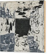 Arrhythmic Number Three Wood Print