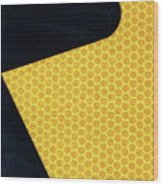 Arrow On Yellow Wood Print