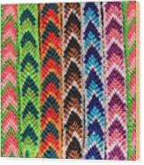Arrow Pattern Woven Bracelets Wood Print