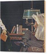 Arrow Shirt Collar Ad, 1914 Wood Print
