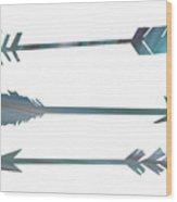 Arrows Wood Print