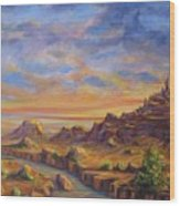 Arroyo Sunset Wood Print
