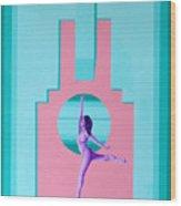 Art Deco Gal Wood Print