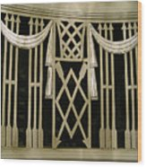 Art Deco Grate 2 Wood Print