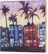 Art Deco Miami Wood Print