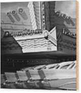 Art Deco Movie Theatre And Chevrolet Belair Wood Print