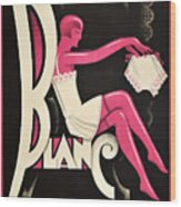 Art Deco Paris Lingerie Ad Wood Print