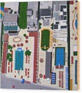 Art Deco Pools Wood Print