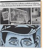 Art In America Ad Wood Print by Signs Signs of the Times Collection