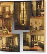 Art Institute Of Chicago Miniature Room Collage Textured Wood Print