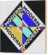 Art Modern Wood Print