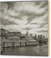 Art Museum Time Exposer Wood Print by Jack Paolini