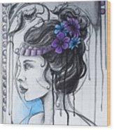 Art Nouveau Girl 1 Wood Print