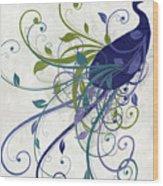 Art Nouveau Peacock I Wood Print