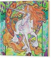 Art Nuevo Unicorn Wood Print