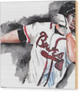 Art Of The Braves Wood Print