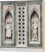 Art On Duomo In Florence Italy Wood Print