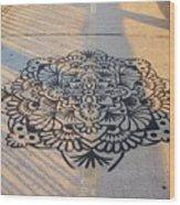 Art On Manhattan Bridge Wood Print