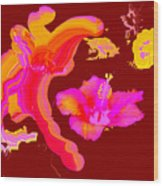 Art Play Hibiscus 1 Wood Print