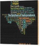 Art Print, Pop Art Texas Map, Modern Style Country Map, Country Maps For Home Decor, Pop Art Map Pri Wood Print