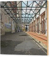 Art Space In Former Power Plant Wood Print