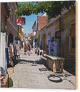 Art Street In Varazdin Wood Print