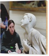 Art Students In The Louvre Wood Print