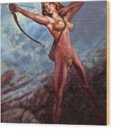 Artemis Diana Wood Print