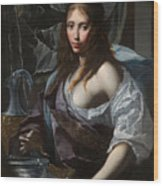 Artemisia Prepares To Drink The Ashes Of Her Husband Mausolus    Wood Print