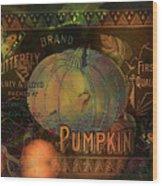 Artful Pumpkins Wood Print