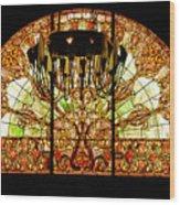 Artful Stained Glass Window Union Station Hotel Nashville Wood Print by Susanne Van Hulst