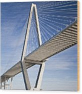 Arthur Ravenel Jr. Bridge In Charleston South Carolina Wood Print
