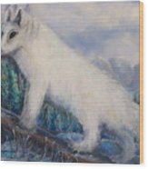Artic Fox Wood Print