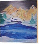 Artic Lake Wood Print