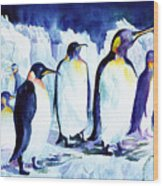 Arctic Penquins Wood Print