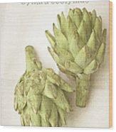 Artichoke Cynara Scolymus Wood Print
