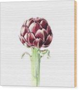 Artichoke From Roman Market Wood Print