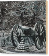 Artillery At Pickettes Charge Wood Print
