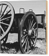Artillery Wagon Wood Print