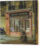 Artisan Patissier Montmartre Paris Wood Print