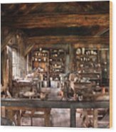 Artist - Potter - The Potters Shop  Wood Print by Mike Savad