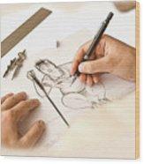 Artist At Work - So Yeon Ryu Part 1 Wood Print