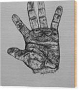 Artist  Hand Variation I Wood Print