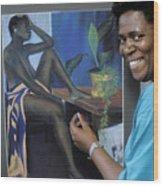 Artist In Bermuda Wood Print