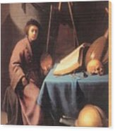 Artist In His Studio 1632 Wood Print