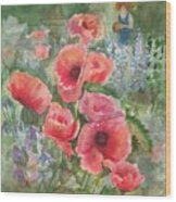 Artist In The Garden Wood Print by B Rossitto