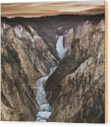 Artist Point Canyon Falls Wood Print