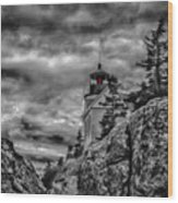 Artistic Bass Harbor Lighthouse In Acadia Wood Print