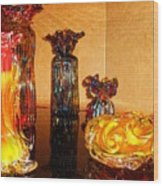 Artistic Glass 2 Wood Print