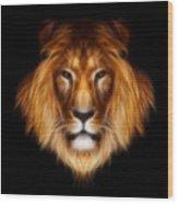 Artistic Lion Wood Print by Aimelle